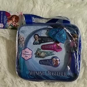 Girls Frozen 5 Piece  Hair Accessory Set